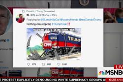 Trump retweets -- then unretweets -- on...