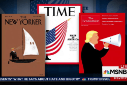 Evocative magazine covers call out Trump...
