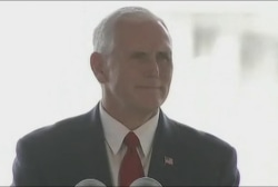 'Does Mike Pence believe the words he said?'