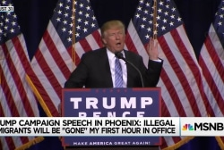 Trump set to reprise harrowing Phoenix speech