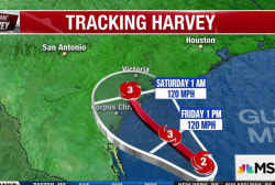 Hurricane Harvey intensifies to Category 2...
