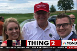 Trump crashes Bedminster wedding, as...