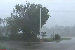 Large Debris Flies As Hurricane Irma Makes...