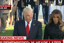 President, first lady lead moment of silence