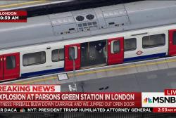 London train explosion treated as ...
