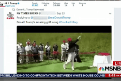 Trump retweets video of himself hitting...
