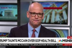 Trump taunts McCain over GOP Health Bill