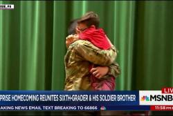 Surprise homecoming reunites sixth-grader...