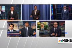 Late night takes jabs at Trump Administration