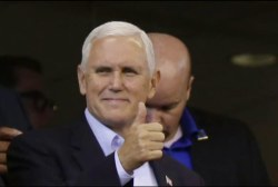 Mike Pence didn't fool anyone with...