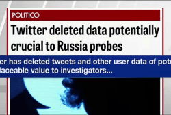Politico: Twitter deleted data related to...