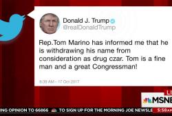 Trump says his drug czar pick withdrawing...