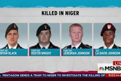 Pentagon scrambles for answers on Niger