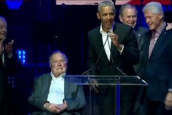 Former presidents come together for...