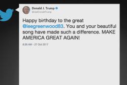 Trump tweets at the wrong Lee Greenwood
