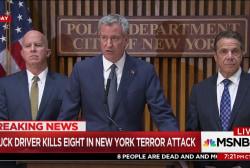 "De Blasio: New Yorkers will be ""undeterred"""