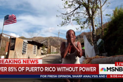 Puerto Rico backsliding one moth after storm