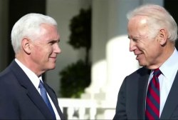Sometimes Mike Pence, Joe Biden chat on...