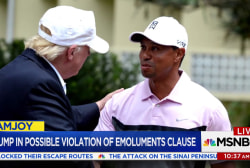 Trump and Tiger Woods linked by deal...