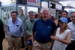Bill Clinton visits Puerto Rico