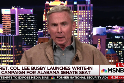 Alabama write-in candidate says race is...