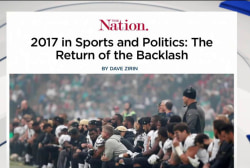 2017 saw return of the backlash in sports, politics