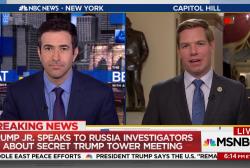 Trump Jr. grilled on secret meeting
