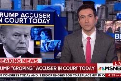 """Trump """"groping"""" accuser in court"""