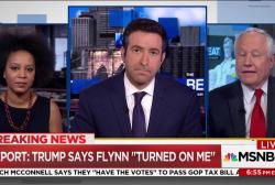 """Trump on Flynn: He """"turned on me"""""""
