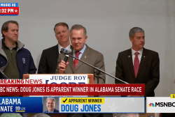 Roy Moore speaks to supporters but fails to concede