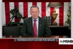 'Uniquely horrific' Moore has yet to concede