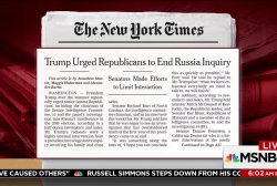 Trump urged Senate GOP to end probe: NYT