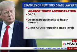 NY Atty. General steps up lawsuits against Trump admin.