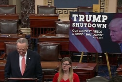 Government shuts down on anniversary of Trump inauguration