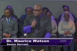 With Pence in front row, pastor rips into Trump