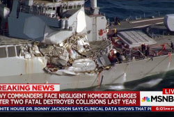 Two Navy commanders charged with homicide