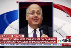 Clinton kept 2008 adviser on campaign, despite reports of harassment: Source