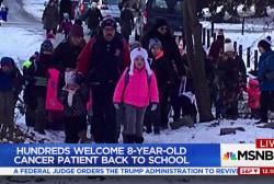 Good news: Leukemia survivor returns to school after a year off