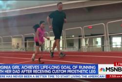 Good News: New prosthetic leg allows nine-year-old to run