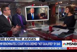 """Trump renominates two """"not qualified"""" judges"""