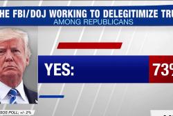 73% of Republicans believe FBI/DOJ delegitimizing Trump