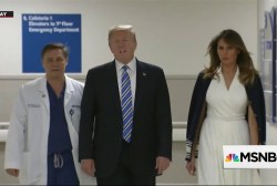 Trump went to disco party after meeting shooting survivors