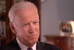 Former Vice President Biden looks ahead to the 2020 presidential election