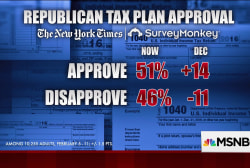 Over half of Americans approve of tax plan: poll