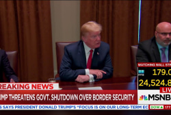 Trump: 'I'd love to see a shutdown' over immigration