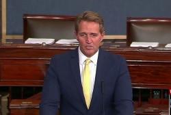 Sen. Flake rips President Trump's 'treasonous' comments