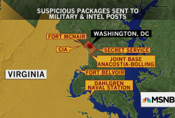 Suspect arrested over packages sent to Washington-area military, intel sites