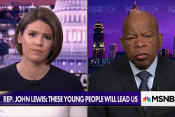 """Civil Rights Icon John Lewis joins young people in Atlanta's """"March for Our Lives"""""""