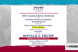 Trump team fails to help Trump avoid controversial fundraiser