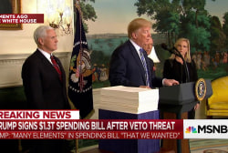 Trump signs $1.3 trillion spending bill after veto threat